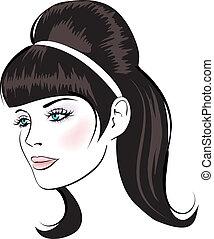 beauty vector face woman portrait