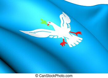 Flag of Salvador, Brazil. Close Up.