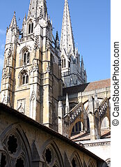 Cathedral of St-Marie - The nearley 90 meters high towers of...