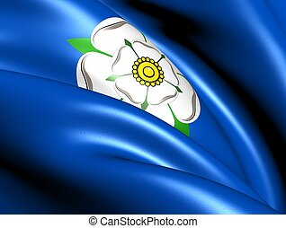 Flag of Yorkshire. Close Up.