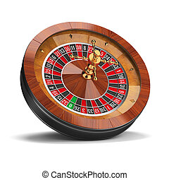 roulette - Roulette wheel 3d image Isolated white background...
