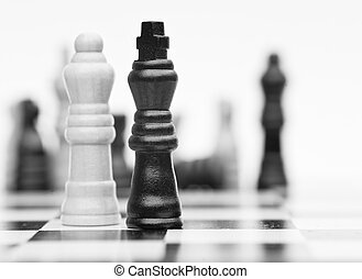 Chess game of strategy business concept application -...