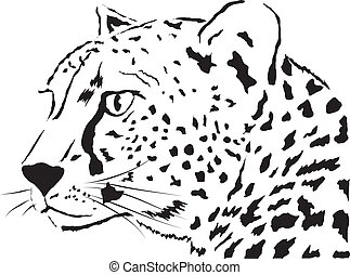 Leopard - abstract face Leopardvector illustration