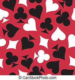 Playing cards. Seamless background. Colorful vector...