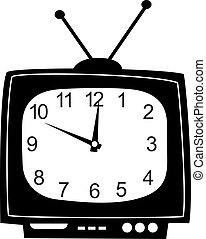 Cute wall clock television sticker. - Cute wall clock tv...