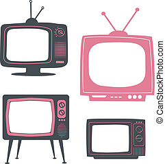 retro tv set - stylish retro tv set Conceptual vector...