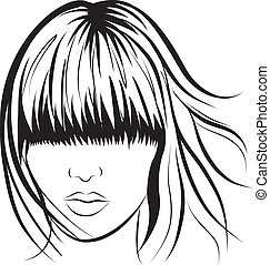 abstract woman face - abstract vector woman face. Art work...