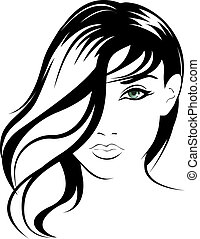 beauty vector face girl portrait