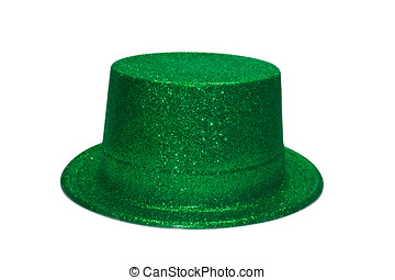 Green Glitter Hat - Green Glitter Party Hat