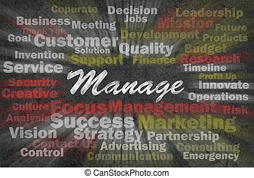 Manage concept with business related words