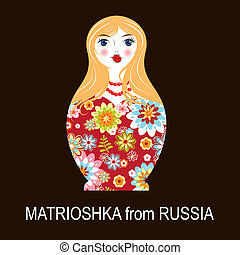 Traditional Russian matryoshka matrioshka doll, national...