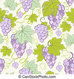 Creative seamless grape background.