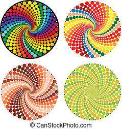 Optical illusion Vector EPS - Optical illusion with...