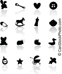 baby arrival background icons
