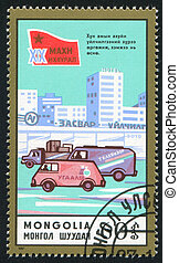 transportation - MONGOLIA - CIRCA 1987: stamp printed by...