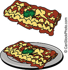 lasagna, piastra
