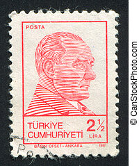 Kemal Ataturk - TURKEY - CIRCA 1981: stamp printed by...