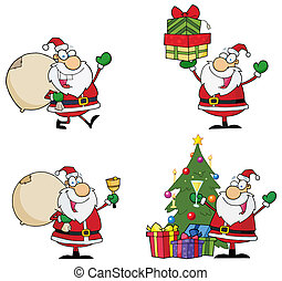 Santa Claus Cartoon Characters . Collection