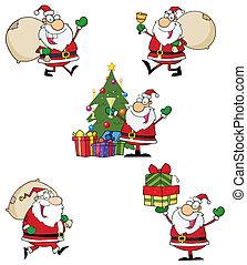 Santa Claus Style Characters - Santa Claus Cartoon Style...