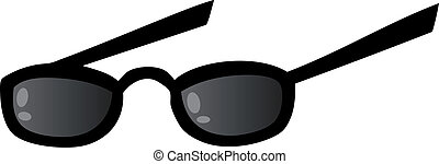 Black Eye Glasses - Illustration Of Black Eye Glasses