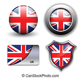 uk icons - United Kingdom; UK flag icons theme