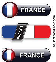 France icons - France flag banners, icons theme