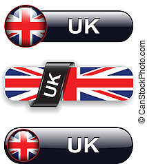United Kingdom icons - United Kingdom; UK flag banners,...