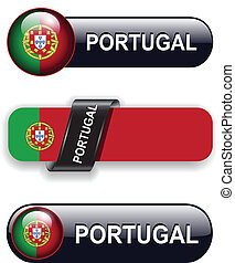 Portugal icons - Portugal flag banners, icons theme