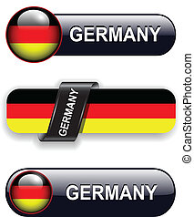 German icons - German flag banners, icons theme.