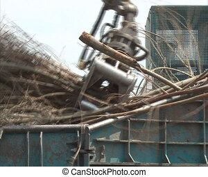 crush tree branch fuel - special equipment with crane load...