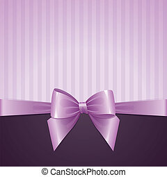 violet background with bow, vintage design, vector eps-10