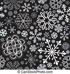Snowflake christmas seamless background - Snowflake...