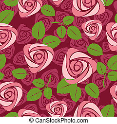 seamless floral rose vector background illustration