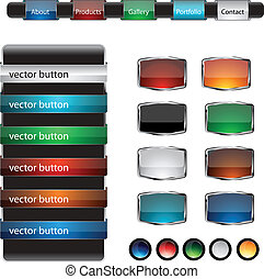 Web design frame buttons vector set - Web Design Frame...