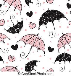 abstratos, seamless, fundo, guarda-chuva,...