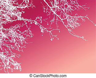 abstract tree background - the abstract tree pink background