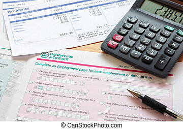 Self assessment tax return - Photo of a UK self assessment...