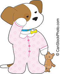 Cute Puppy Pajamas