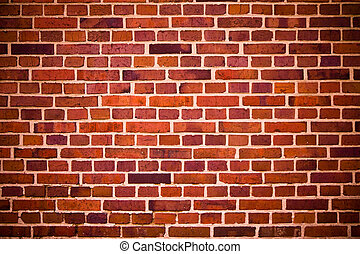 Red bricks wall - Red and brown old bricks wall background