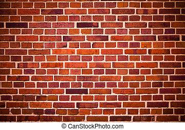vermelho, Tijolos, parede