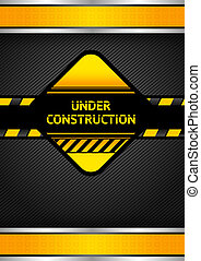 Under construction, black corduroy background. Vector 10eps