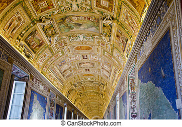 Gallery of the Geographical Maps in Vatican Museum