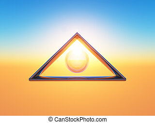 triangle - a triangle with a bubble inside