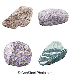 set of four minerals