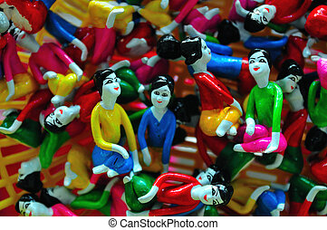 handcraft figurines doll traditional clay art