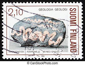 Postage stamp Finland 1986 Veined Gneiss