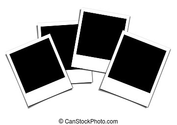 polaroid isolated on white - photo frame on an isolated...