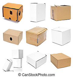 boxes collage - a collage of nine pictures of different...