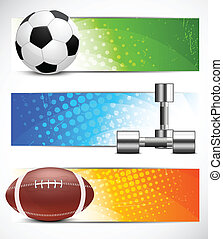 Set of sport banners - Set of color banners with sports...