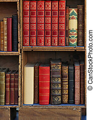 Bookcase - Small library with old books